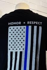 Thin Blue Line Honor Respect T-Shirt