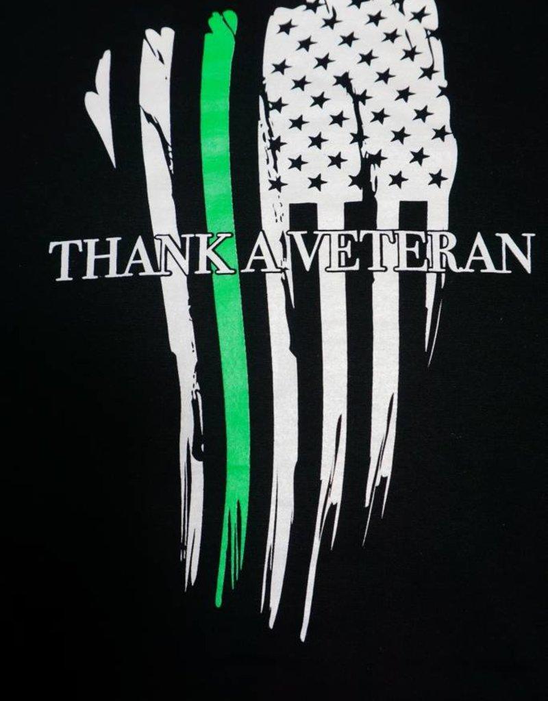 Thin Green Line  Flag Hoodie