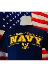 United States Navy with Eagle Emblem T-Shirt