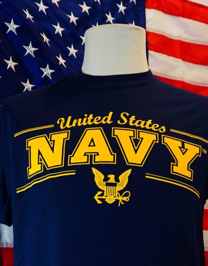 United States Navy with Eagle Emblem T-Shirt
