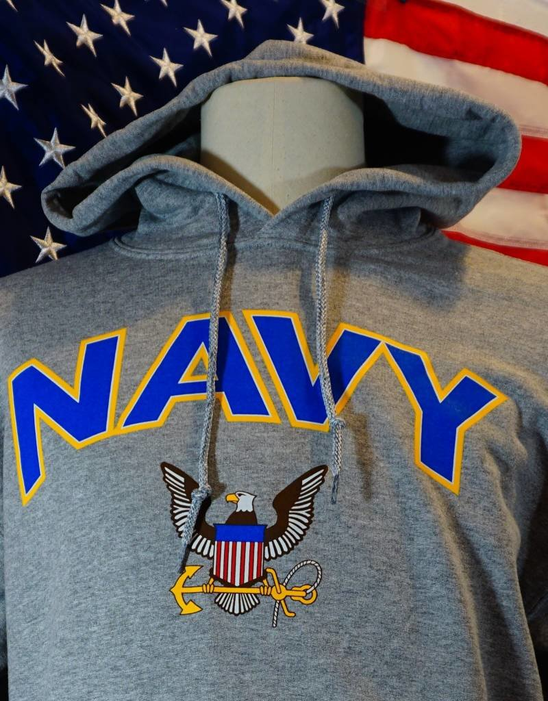 Navy w/ Eagle & Anchor Hoodie