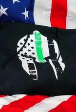 Thin Green Line Spartan Helmet Hoodie