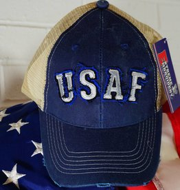 Air Force (Blue and Grey) Mesh Baseball Cap