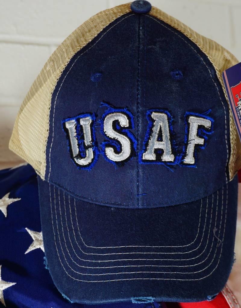 Air Force (Blue and Grey) Mesh Baseball Cap