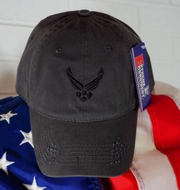 Air Force (Charcoal w/Black logo) Baseball Cap