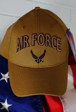 Air Force Baseball Cap w/ AF Wing Logo (Coyote Brown)