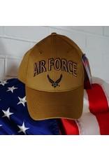 Air Force Baseball Cap w/ AF Wing Logo (Coyote Brown)