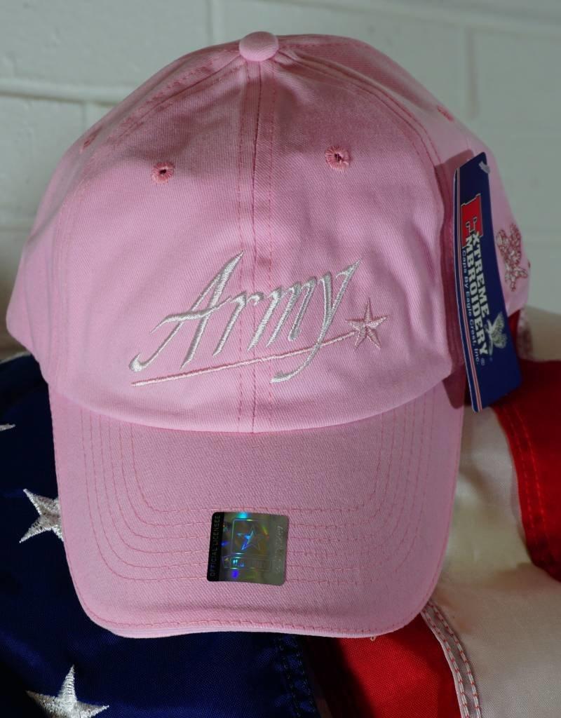 Army Baseball Cap (Pink)