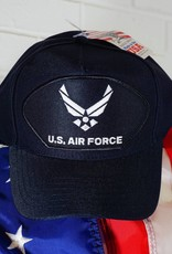 Blue w/white logo Air Force Emblematic Baseball Cap (Navy)