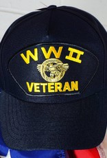 World War II Veteran (Blue w/yellow letters) Baseball Cap