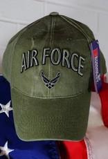 Air Force w/ Wing Logo Baseball Cap (OD Green)