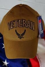 Air Force Veteran Baseball Cap w/ AF Logo (Coyote Brown)