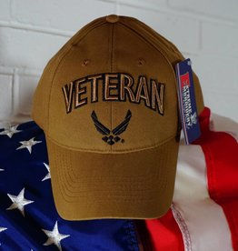 Air Force Veteran Baseball Cap w/ AF Logo (Coyote Brown)