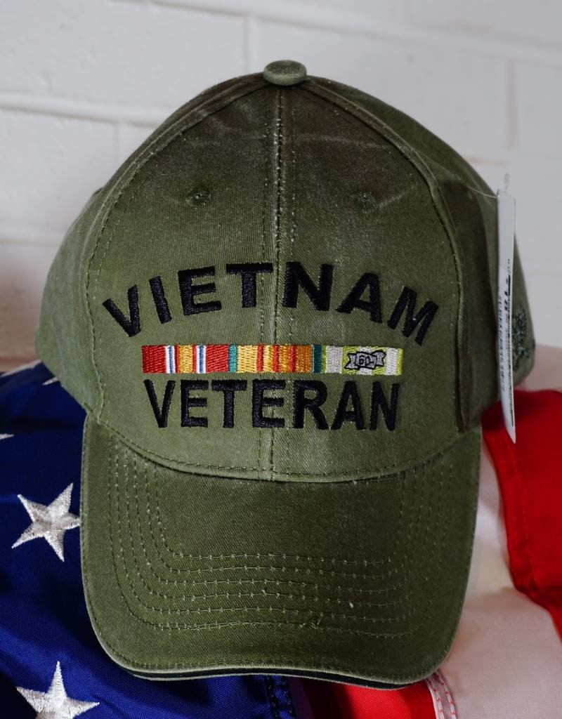 Vietnam Vet Ball Cap (OD Green)