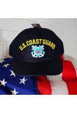 Coast Guard (Blue w/yellow letters & C. G. logo) Baseball Cap