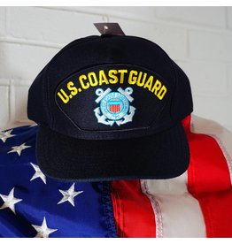 Coast Guard (Blue w/yellow letters & C. G. logo) Baseball Cap