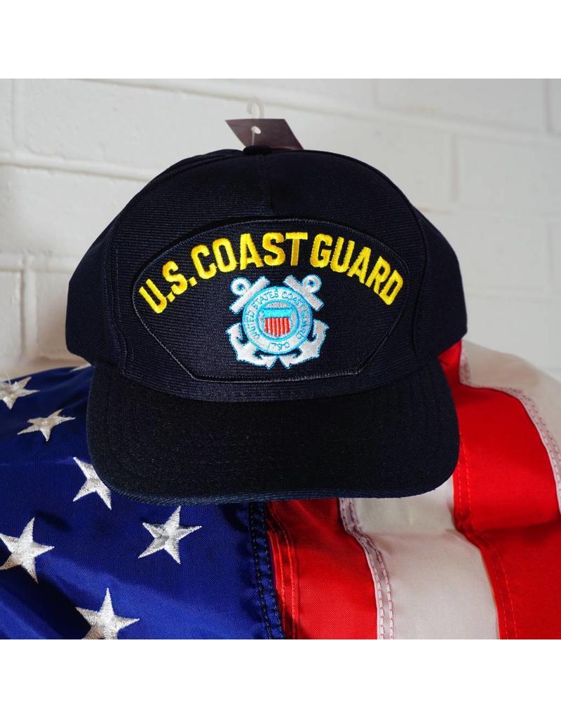 c9864d24aea Coast Guard (Blue w yellow letters   C. G. logo) Baseball Cap - Stars    Stripes