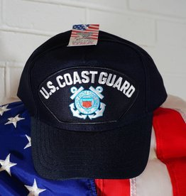 Coast Guard (Blue w/white ltrs & C. G. logo) Baseball Cap