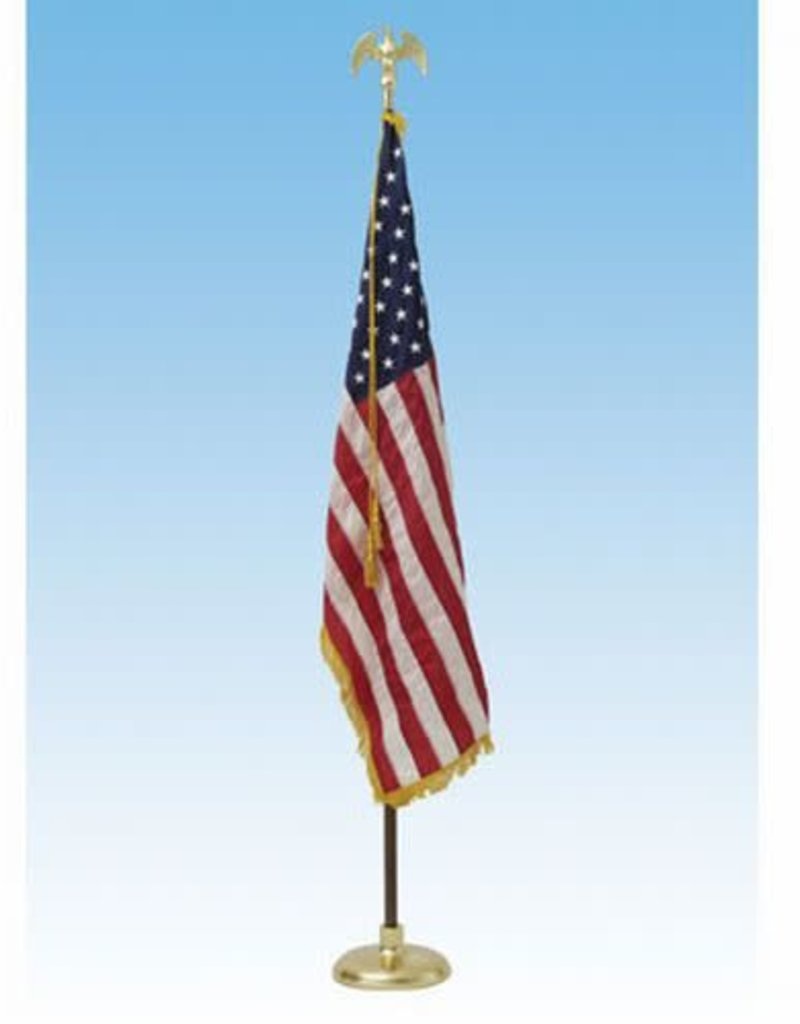 Flag Set CROWN 8 ft Pole with Eagle and FLAG