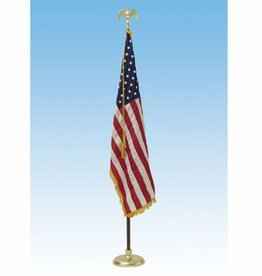 Deluxe Crown US Flag Presentation Sets 7' pole w/ 3x5' flag