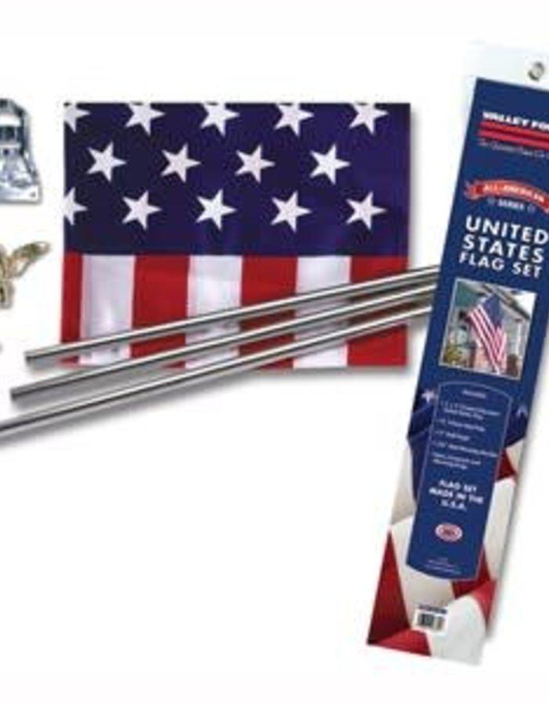 Economy 3x5 us flag kit