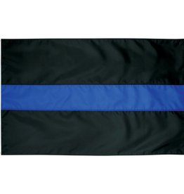 Thin Blue Line Nylon Flag