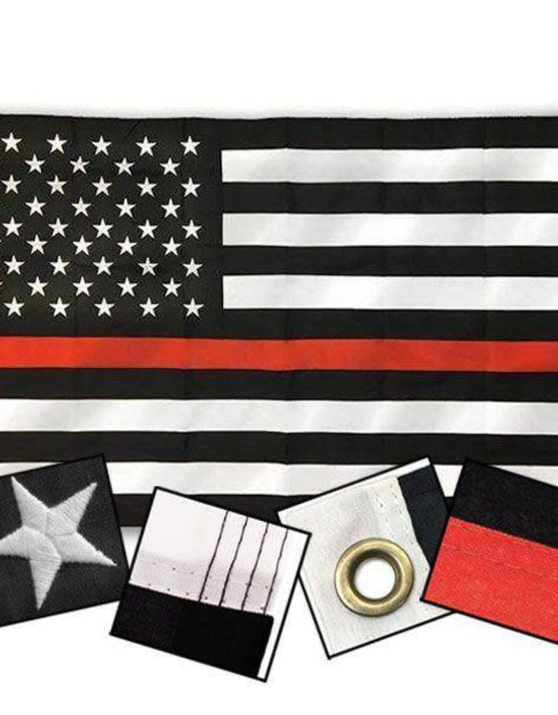 Red Line American Flag >> Black And White American Flag With Thin Red Line Nylon Flag