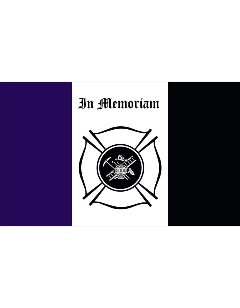 Fireman Mourning 3x5' Nylon Flag