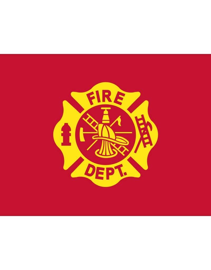 Fire Department 3x5' Nylon Flag