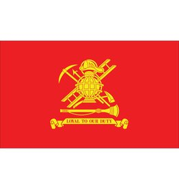 "Firemen Poly-Cotton 12x18"" Stick Flag"