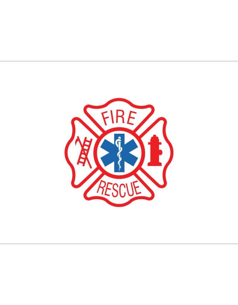 Fire Rescue 3x5' Nylon Flag