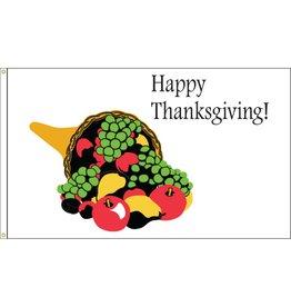 Happy Thanksgiving 3x5' Nylon Flag