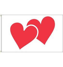 Valentine Hearts 3x5' Nylon Outdoor Flag