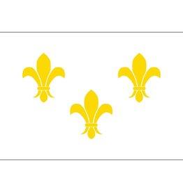 Fleur-De-Lis (White-3) Historical Nylon Flag
