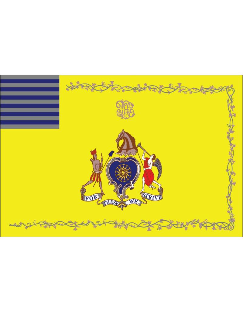 Philadelphia Light Horse Troop Historical Nylon Flag 3x5'
