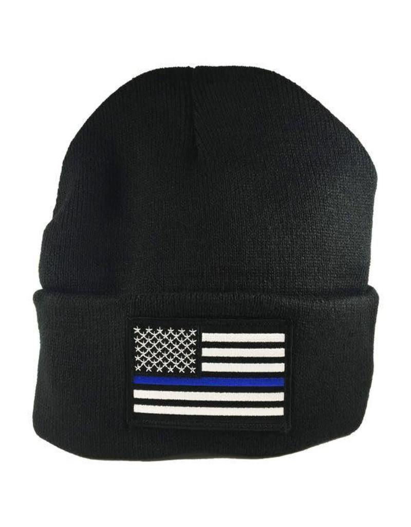 23697fa5018 Thin Blue Line Watch Cap - Stars   Stripes