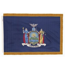 New York State Nylon Flag with Crown