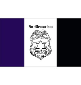 Police Mourning 3x5' Nylon Flag
