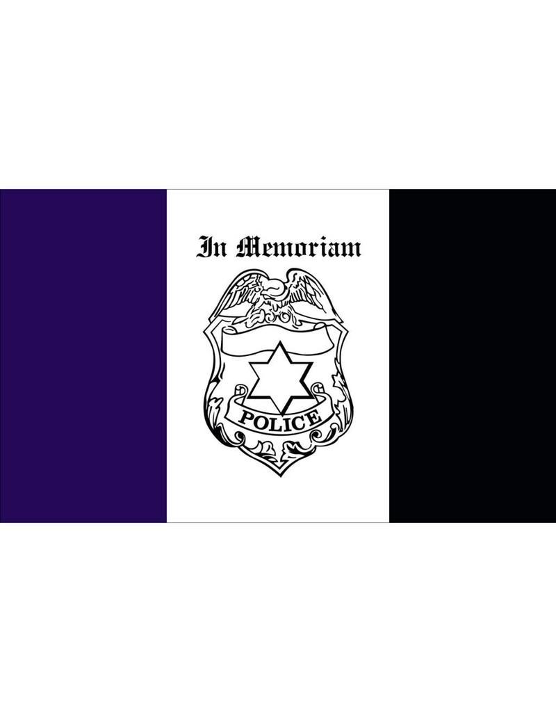 Police Mourning 3x5' Nylon Flag