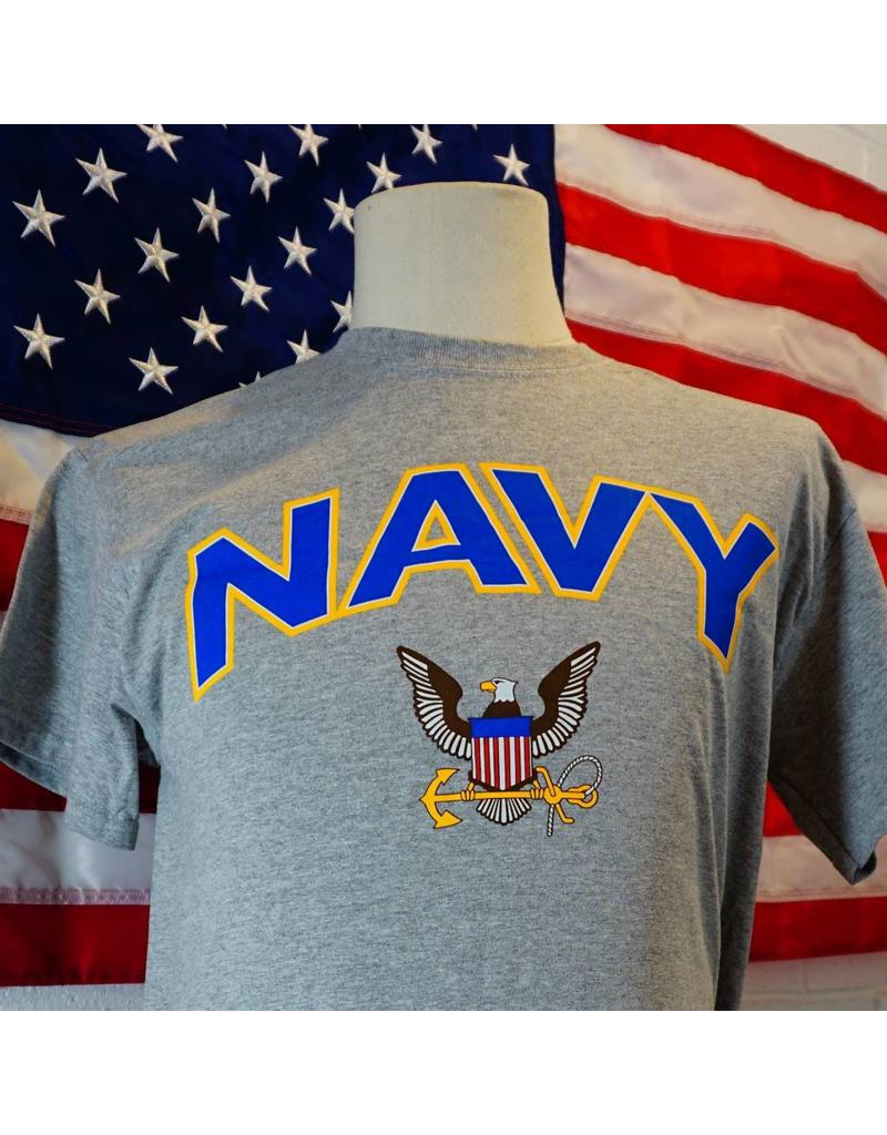 Navy with Eagle Anchor Logo T-Shirt