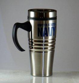 Navy Stainless Steel 16oz Travel Mug