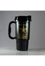 Army Plastic 16 oz Travel Mug