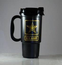 Army Plastic 16 oz Travel Mug