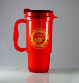 Marine Corps Plastic 16oz Travel Mug