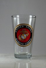 Marine Corps 16 oz Glass