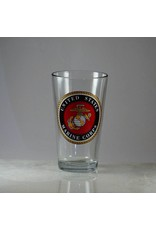 Marine Corps 16 oz Glass