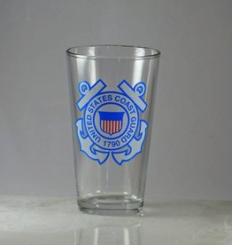 Coast Guard 16 oz Glass