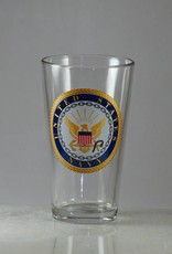 Navy 16 oz Glass