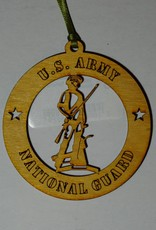 Army National Guard Wooden Ornament