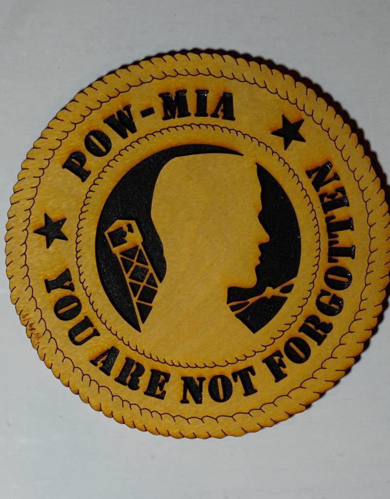 POW/MIA (You Are Not Forgot) SM Plaque Locally Made